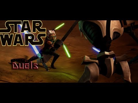 Star Wars The Clone Wars: All lightsaber duels
