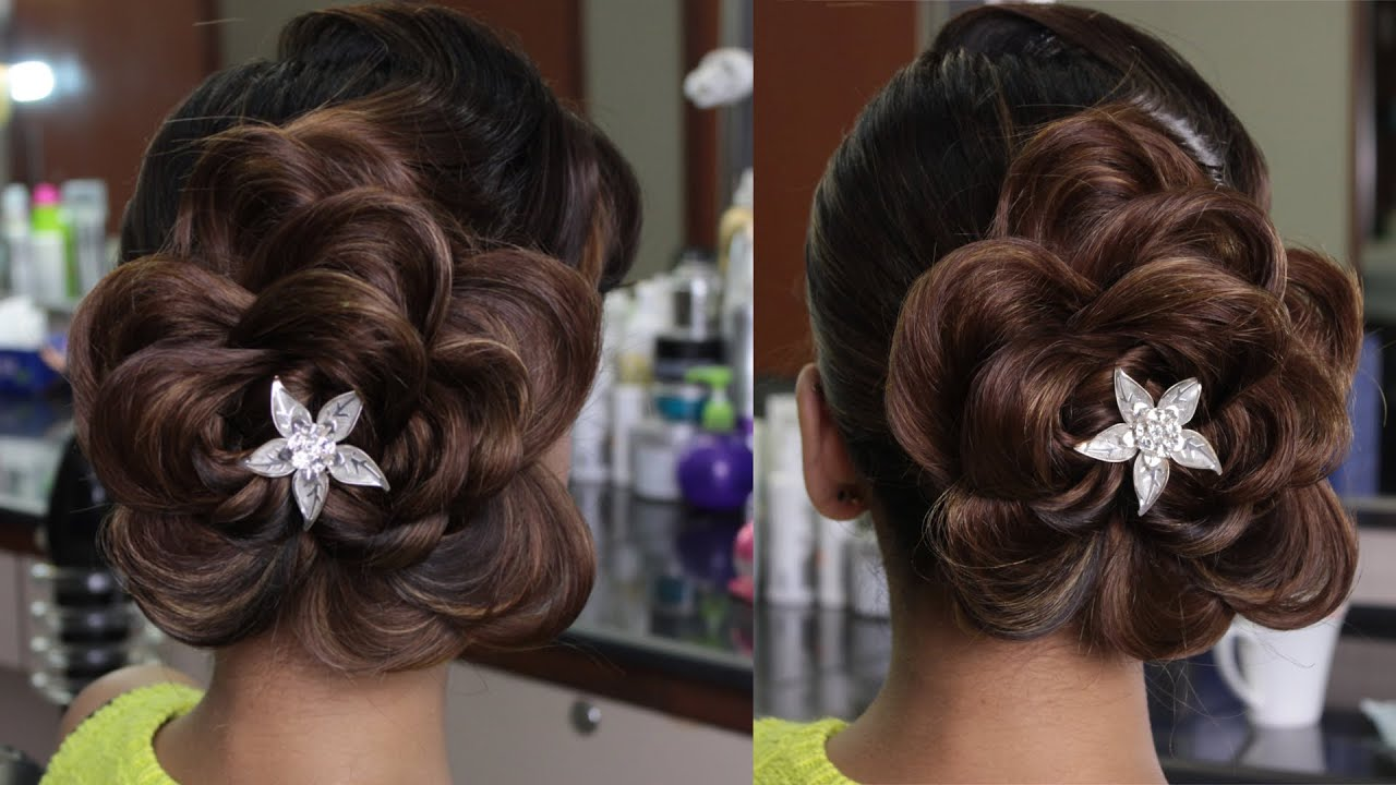 Flower Hair Style plait to flower pattern hairstyle youtube 4153 by wearticles.com