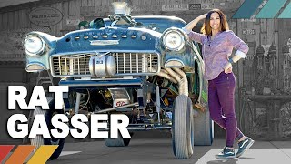 RAT GASSER: Freaked-Out 1955 Chevy Vintage Gasser Drag Car | Nicole Johnson's Detour EP3