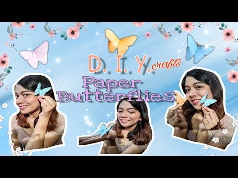 DIY Crafts: 3D Paper Butterfly Origami (Only 2 materials needed-Easy tutorial) Tagalog instructions
