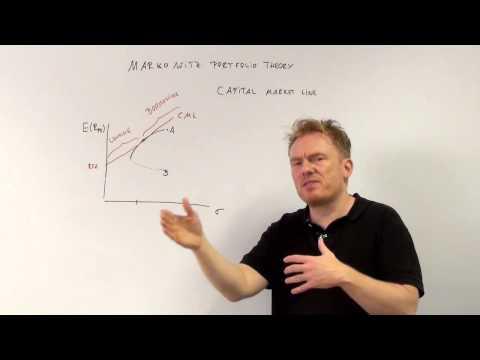 markowitz portfolio theory capital market line cfa-course.com