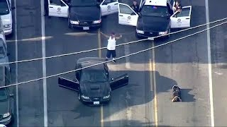 Police Chase Stolen Vehicle in Los Angeles - Sept 16th