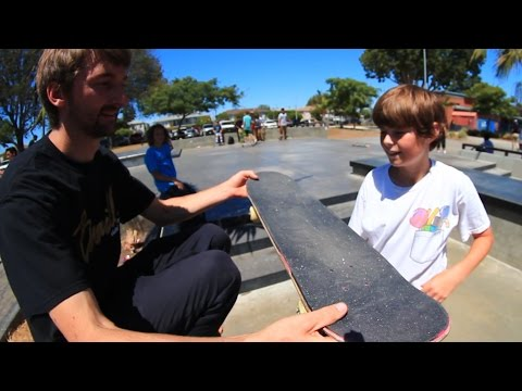SUPRISING A KID WITH A COMPLETE SKATEBOARD FOR HIS BIRTHDAY