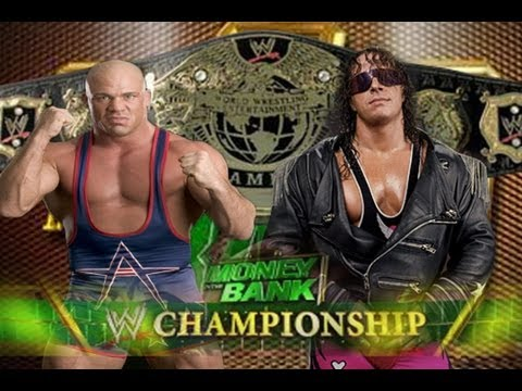 WWE '13: Kurt Angle vs Bret Hart - Money in the Bank (Custom Promo & Undisputed Championship Match)