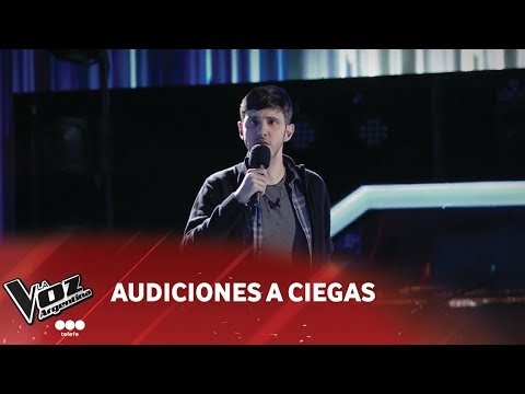 "Lucas Belbruno - ""Zamba para olvidar"" - Daniel Toro - Audiciones a ciegas - La Voz Argentina 2018"