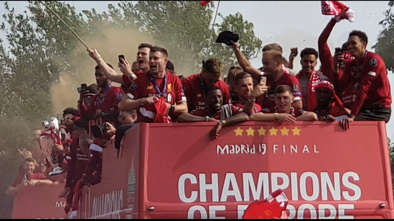 Liverpool Trophy Parade Champions League 2019 Youtube