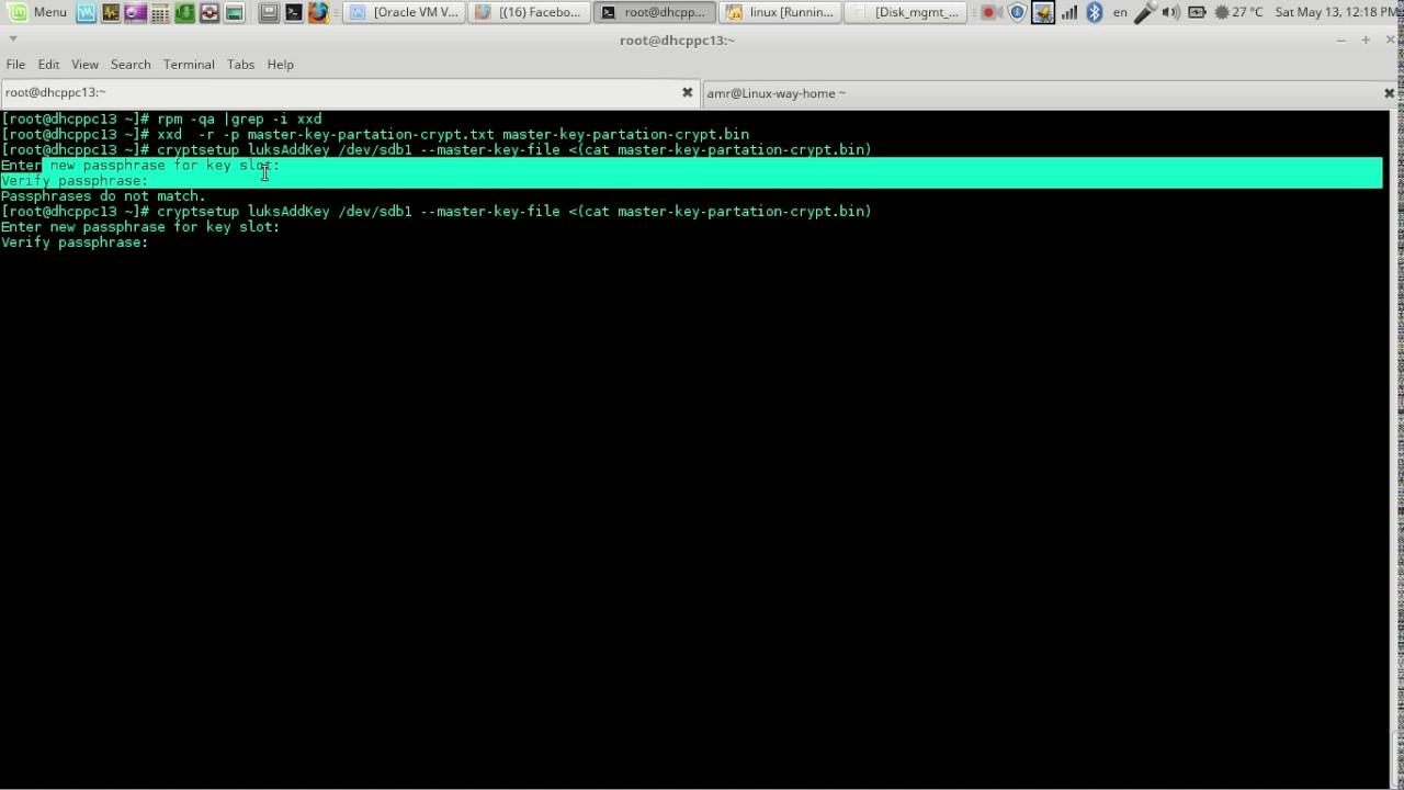 Reset forgotten luks partition key – Get Existing Key