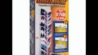 Shoes Away Shoes Away Hanging Shoe Organizer   Youtube
