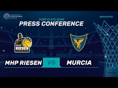 MHP Riesen Ludwigsburg v UCAM Murcia - 3rd Place - Press Conf.