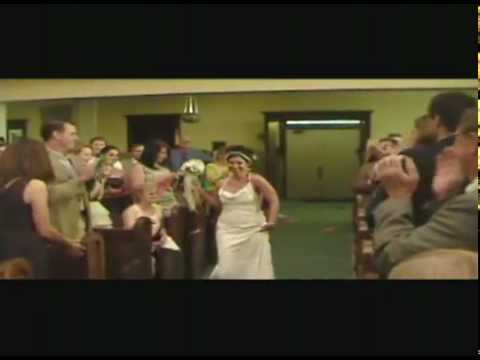 Wedding Starts With Dancing Down The Aisle