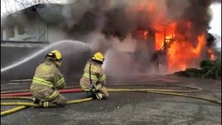 Gambar cover Fire training exercise 'Burn To Learn'