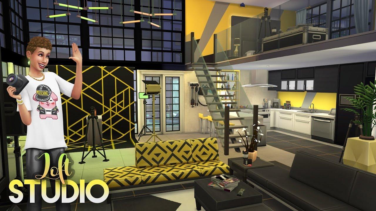 PHOTOGRAPHER STUDIO LOFT || The Sims 4: Moschino Stuff Speed Build