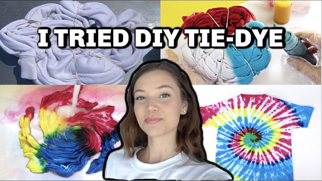 I TRIED TO TIE-DYE DIY MY CLOTHES | Romina Gafur