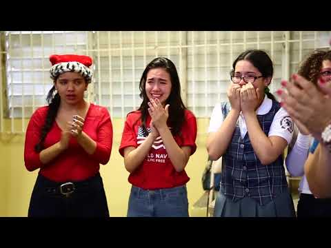 Students at Dr. Pila High School's choir in Ponce, Puerto Rico