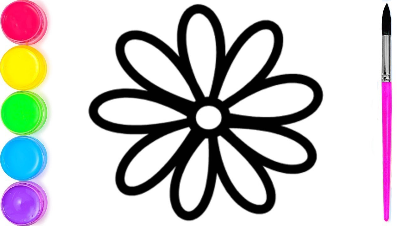 как нарисовать цветок   я изучаю английский цвета ...