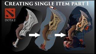 Creating single item for Dota 2 game. Part 1