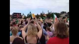 Katie Taylor Wins Olympic Gold Medal in boxing  from the Big Screen in Bray 2012