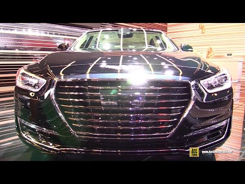 2017 Genesis G90 Exterior and Interior Walkaround Debut at 2016 Detroit Auto Show