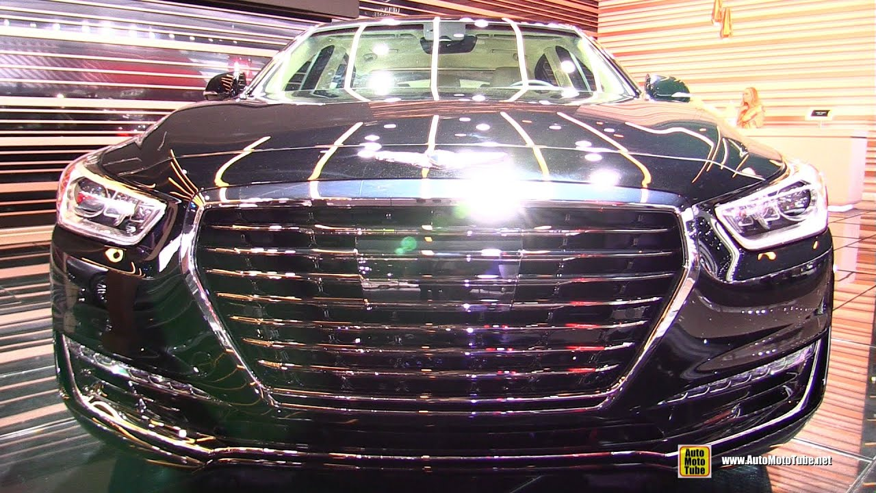 2017 Genesis G90 Exterior And Interior Walkaround Debut At 2016 Detroit Auto Show You