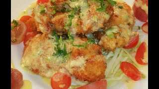 Fried Oyster Salad With Lemon Aioli Dressing-chinese Style