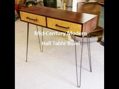 Mid Century Modern Hall Table Build Pt.1   YouTube