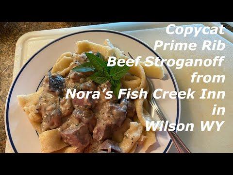 Copycat Prime Rib Beef Stroganoff From Nora's Fish Creek Inn In Wilson WY