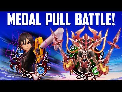 Medal Pull Battle Against Endophin! - Kingdom Hearts Union X