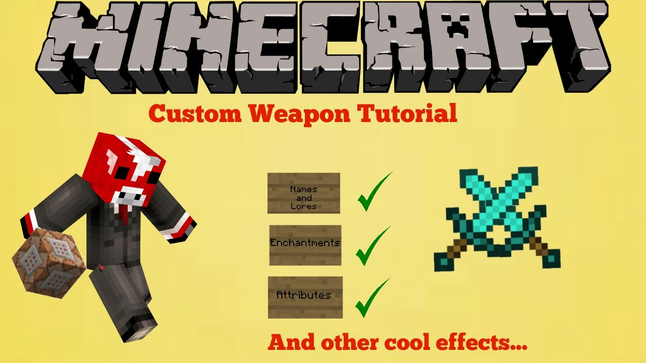 How to make a sword in Meincraft, or Learn to create weapons