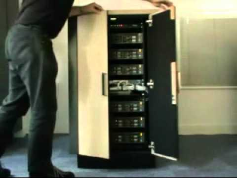 Quiet Server Cabinet - YouTube