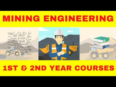 1st and 2nd Year Mining Engineering Courses  | Engineering university courses