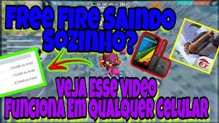 Free Fire Saindo Sozinho, Ta Tudo resolvido Jogue squad em qualquer aparelho liso sem lag