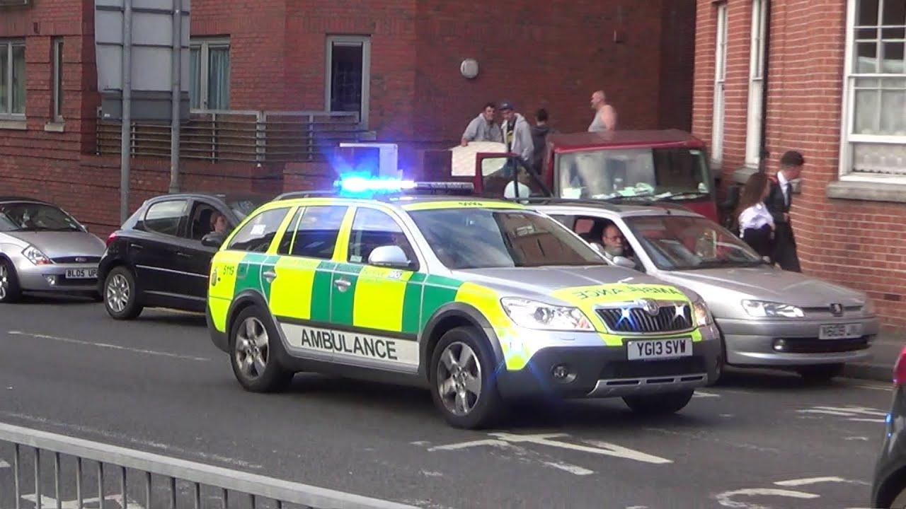 West midlands ambulance service 5119 rapid response vehicle skoda octavia shout