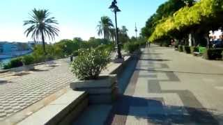 アキーラさん散策①スペイン・セビーリャ(セビリア)・グアダルキビル川沿い道路!Near in Sevilla,Spain