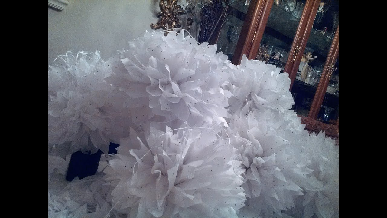Tissue paper flower ball tutorial youtube tissue paper flower ball tutorial mightylinksfo Choice Image