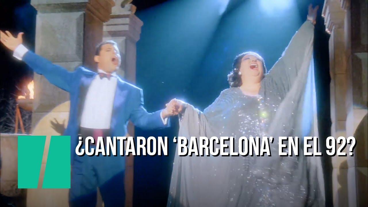 25 Anos Del Barcelona Que Nunca Cantaron Mercury Y Caballe Youtube