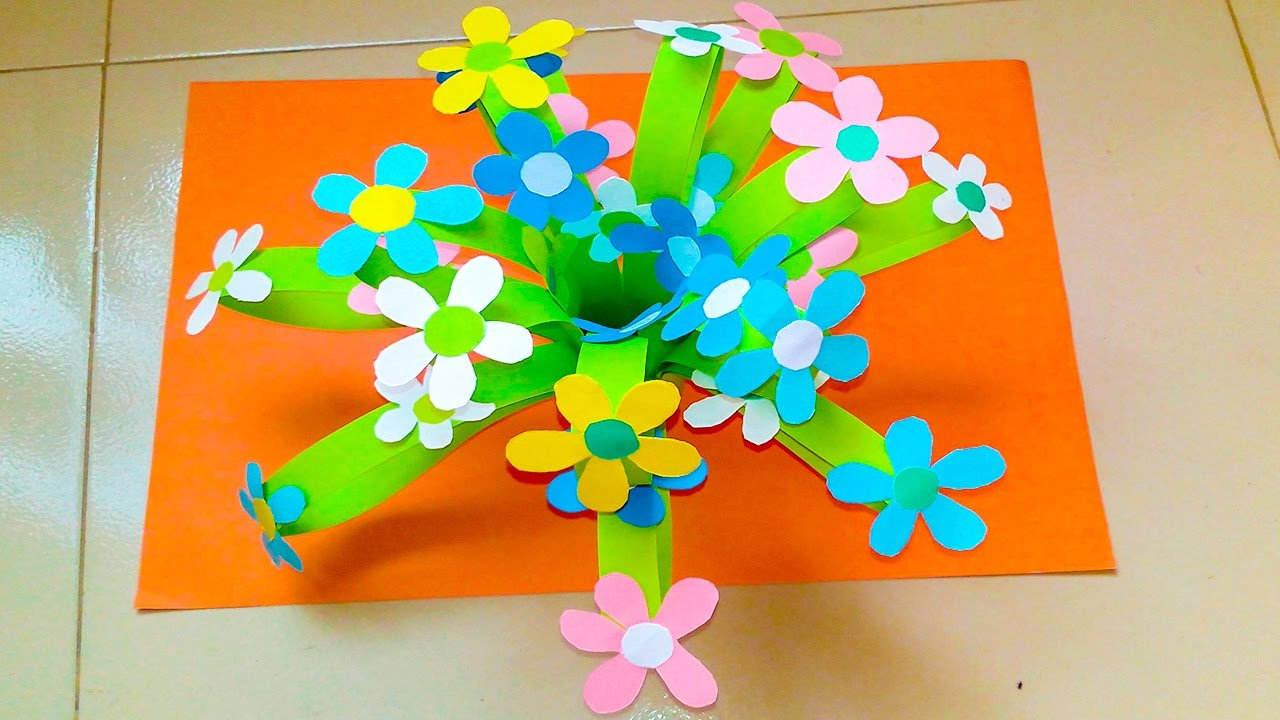 How To Make Paper Flower Tree Tree Diy Paper Flower Home Made Paper Flower