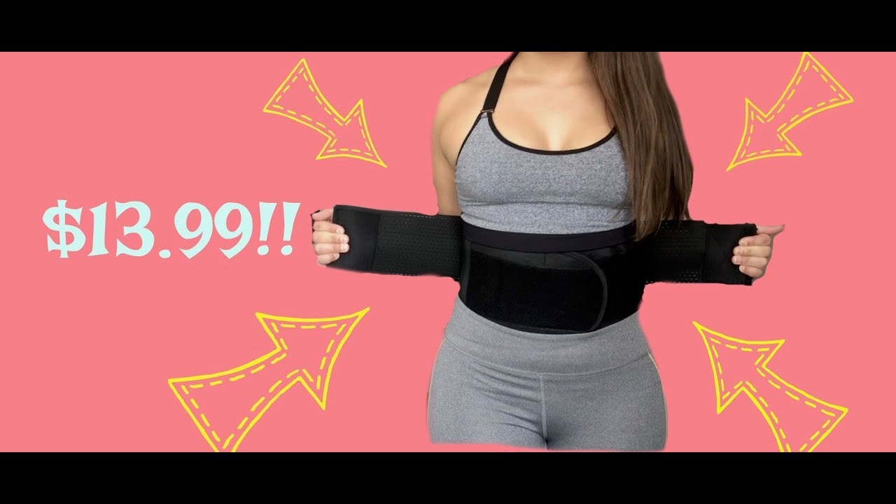 b5915a537db8 WAIST TRAINER BELT REVIEW (BEST SELLER ON AMAZON) - YouTube