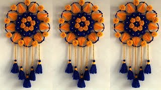 DIY Wall Hanging Out of Bangles and Wool !!! DIY ROOM DECOR! Creative Usefull & Home Decorative Idea