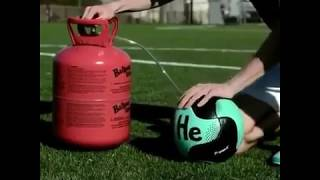 If the soccer ball is filled with helium gas