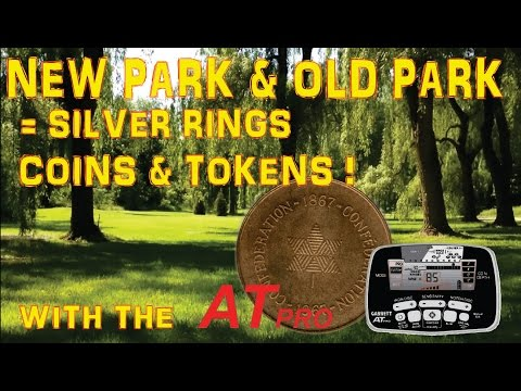 Metal Detecting Silver Rings, Coins, Tokens And Large Cents In Toronto. With The Garrett AT Pro