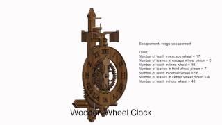 Wooden Wheel Clock Simulation