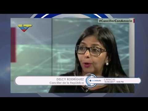 Delcy Rodríguez: En Venezuela no se ha reprimido, se ha contenido la violencia