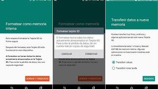 Como usar tu Tarjeta SD como almacenamiento interno Android 6.0 Marshmallow Oficial/CM13/AOSP Etc