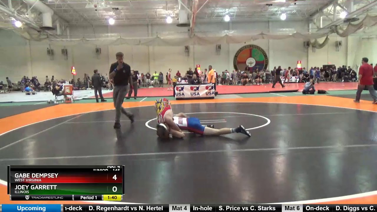 Junior 145 Gabe Dempsey West Virginia Vs Joey Garrett Illinois