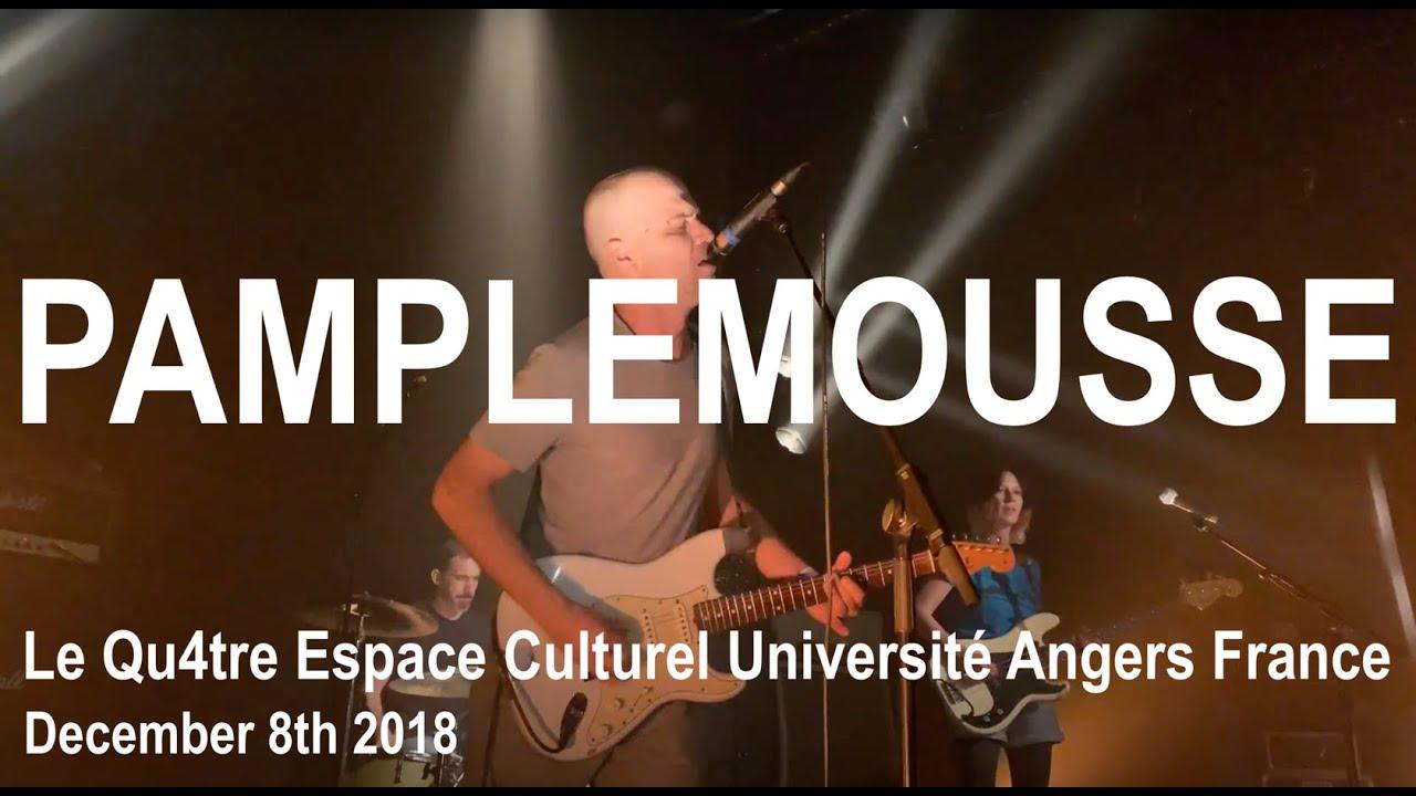 Pamplemousse Live Full Concert 4k Le Qu4tre Université Angers France December 8th 2018 Youtube
