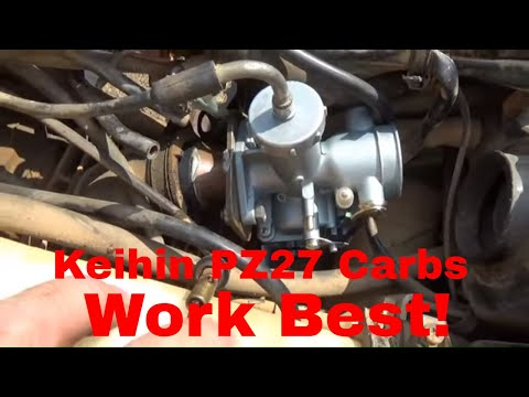 Suzuki Kingquad 300 Mikuni To Keihin Clone Carb Conversion And First Start!