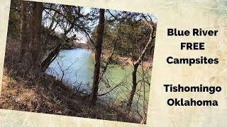 Blue River Campsites iฑ Oklahoma. Beautiful, FREE camping right on the river. Loved it!