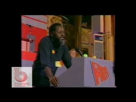 Bernie Grant at Labour Party Conference, 1984