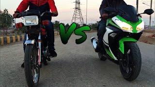 Kawasaki GTO 125cc Vs Sigma Skyline 150cc Friendly Race(2 stroke vs 4 stroke)
