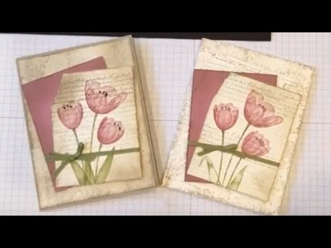 Tranquil Tulips Note Card - YouTube